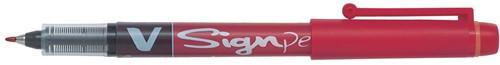Pilot Fineliner V-Sign Pen rood