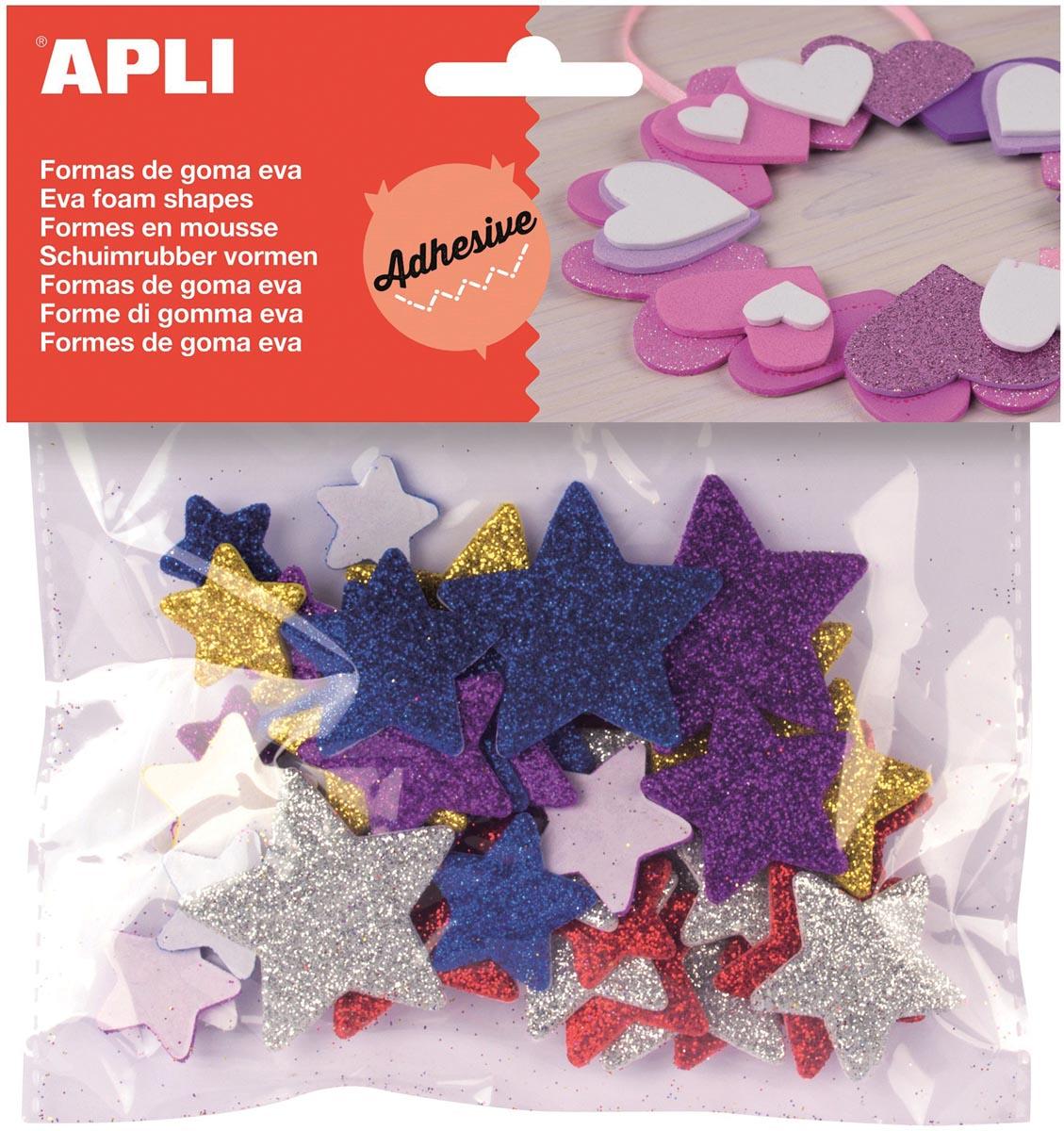 APLI Apli Kids schuimrubber vormen sterren, 50 stuks (13485)