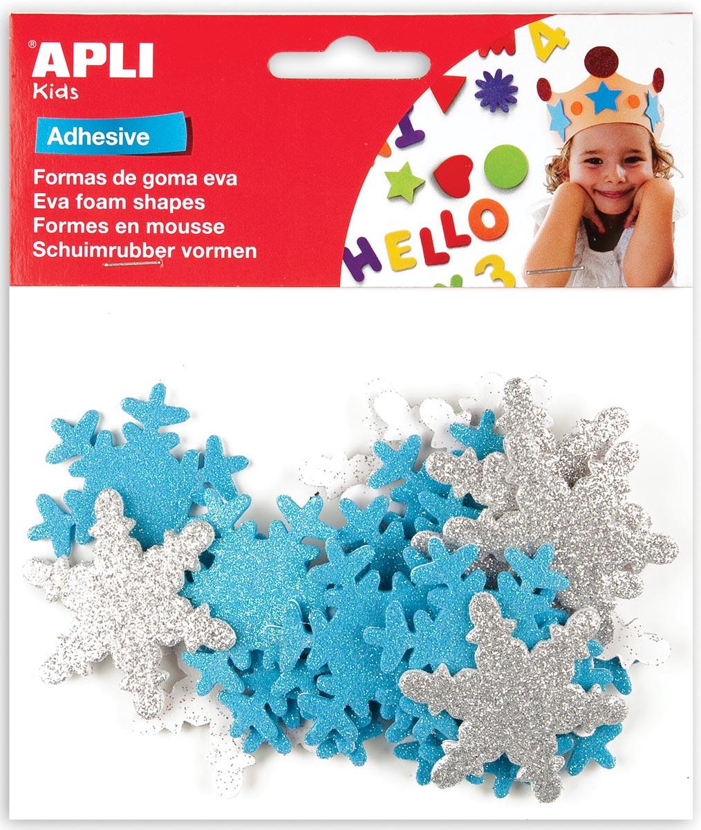 APLI Schuimrubber vormen sneeuwvlokken, 22 stuks (13488)