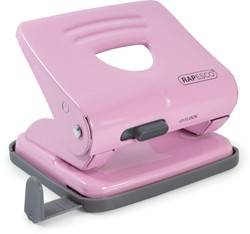 Rapesco metalen 2-gaatsperforator 825 roze, op blister