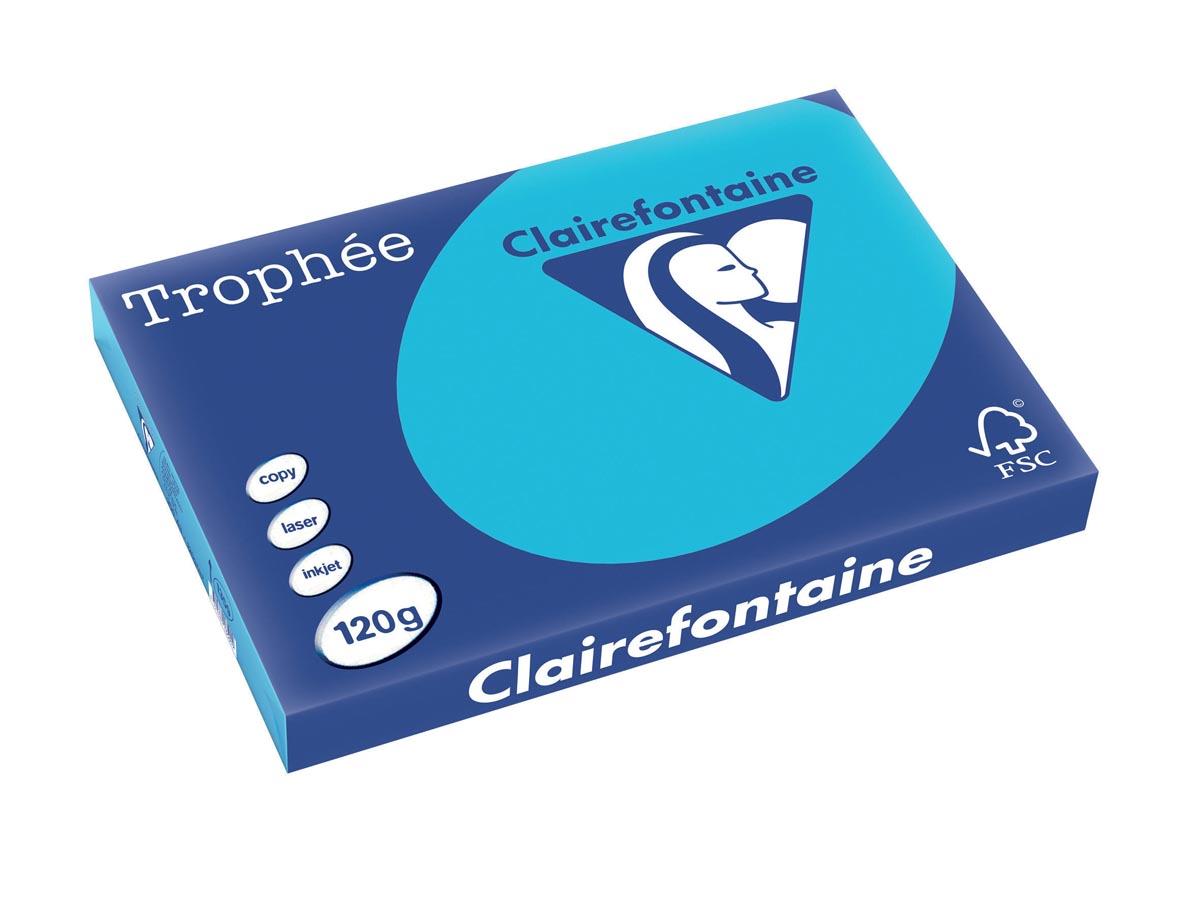 Clairefontaine Trophée Intens A3, 120 g, 250 vel, koningsblauw