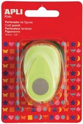 Apli Kids figuurpons voor papier 16 mm cirkel, op blister