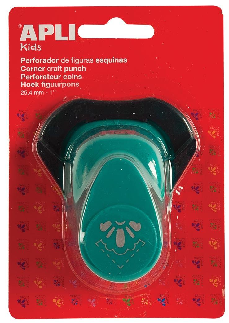Apli Kids hoek figuurpons voor papier 25,4 mm 1/2 bloem, op blister