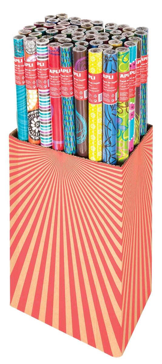 Apli geschenkpapier gamma Tendance, doos met 55 rollen
