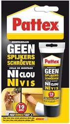 Pattex montagelijm Geen Spijkers & Schroeven, tube van 50 g, op blister