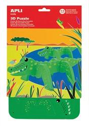 Apli Kids schuimrubber 3D puzzel, krokodil