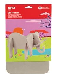 Apli Kids schuimrubber 3D puzzel, olifant