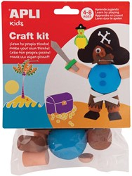 Apli Kids craft kit, op blister, piraat