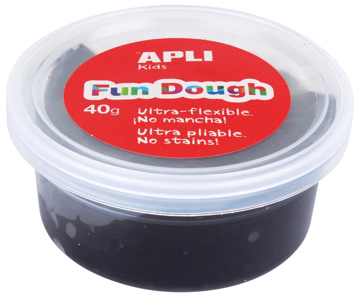 Apli Kids Fun Dough boetseerpasta, 40 g, zwart