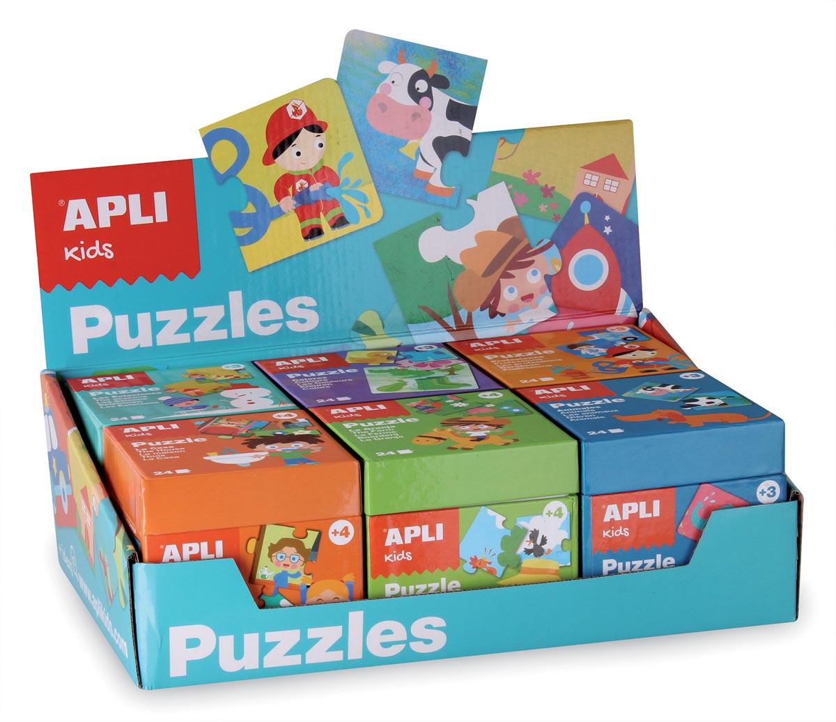 Apli Kids display met 6 verschillende puzzels