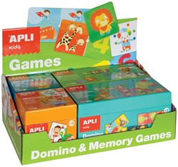Apli Kids display met 2 x Domino spel en 2 x Memory spel