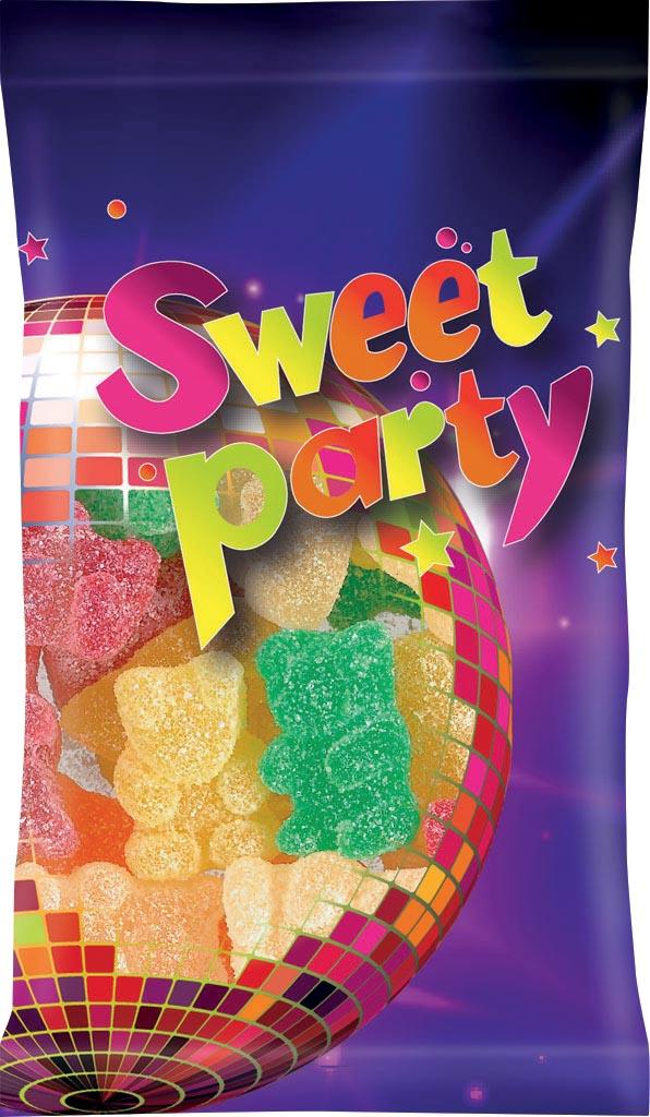 Sweet Party zure beertjes, zakje van 100 g