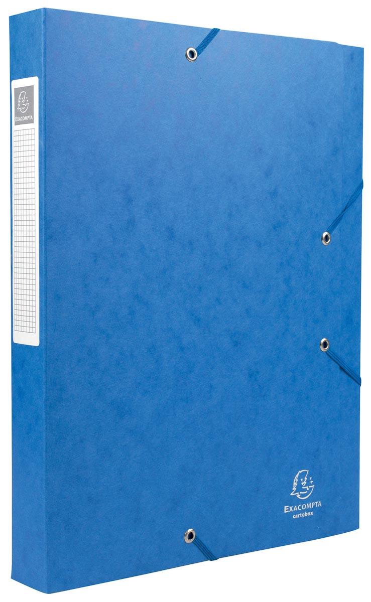 Exacompta Elastobox Cartobox rug van 4 cm, blauw, kwaliteit 7/10e