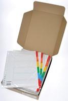 Class'ex tabbladen wit, 23-gaatsperforatie, 6 gekleurde tabs-2