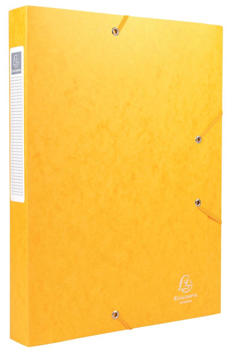 Exacompta Elastobox Cartobox rug van 4 cm, geel, kwaliteit 7/10e