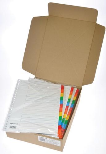 Class'ex tabbladen wit, 23-gaatsperforatie, 12 gekleurde tabs-2