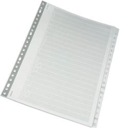 Class'ex tabbladen set A-Z, 23-gaats perforatie, karton