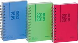 Brepols Schoolagenda Wire-o, geassorteerde kleuren, 2019