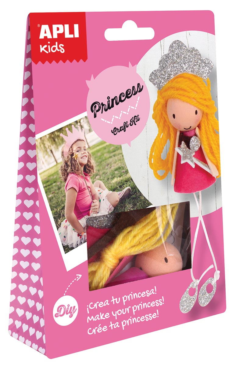 Apli Kids craft kit, op blister, prinses