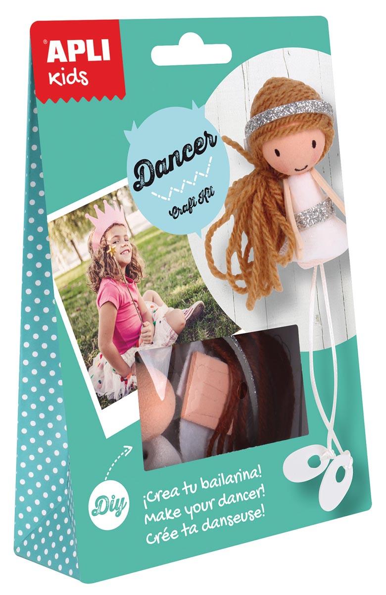 Apli Kids craft kit, op blister, danseres