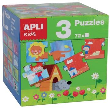 Apli Kids kubus met 3 puzzels