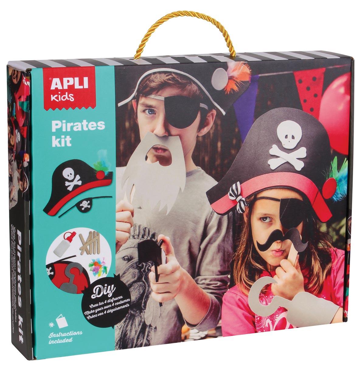 Apli kids knutselset verkleedkostuum piraat