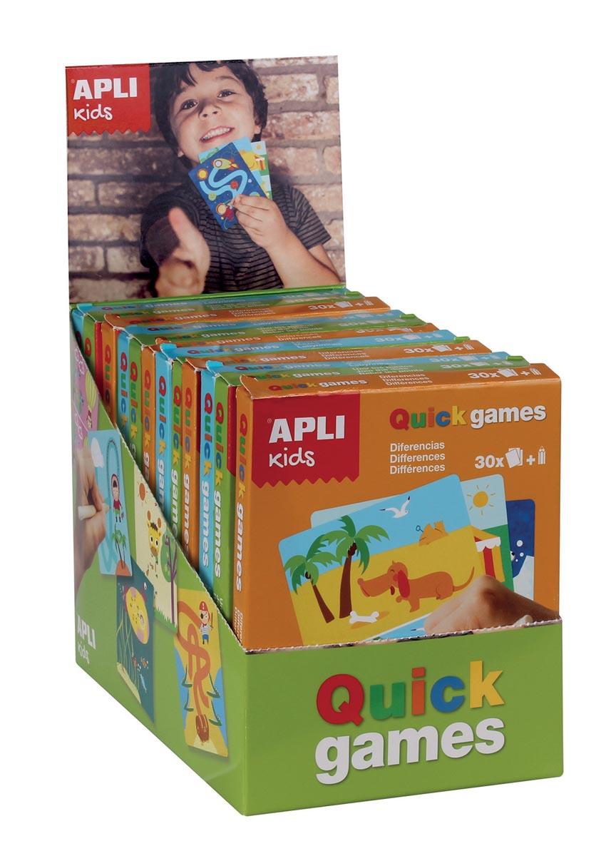 Apli Kids reisspelletjes, display met 12 spelletjes