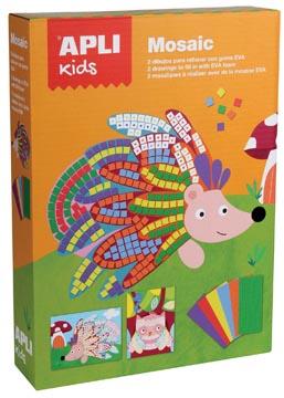 Apli Kids schuimrubber kit mozaïek, 2 stuks, dieren