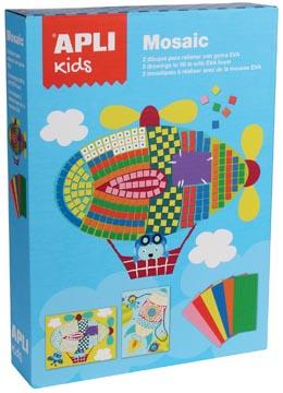 Apli Kids schuimrubber kit mozaïek, 2 stuks, transport