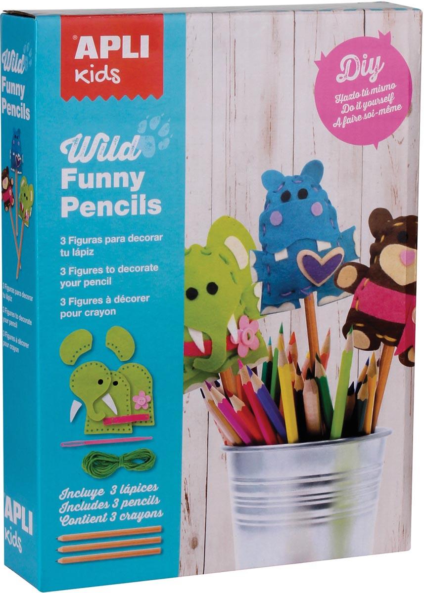 Apli Kids vilt kit Wild Funny Pencils