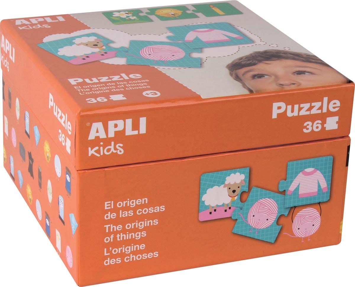 """Apli Kids puzzel """"Dingen"""", doos met 36 puzzelstukken"""