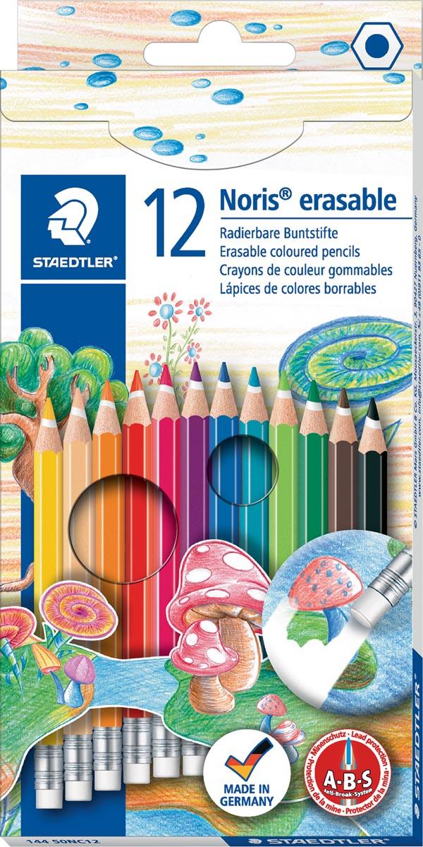 Staedtler kleurpotlood Noris Club uitgombaar 12 potloden