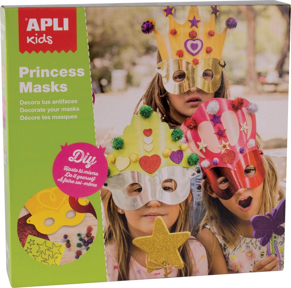 Apli Kids masker prinses, doos met 3 stuks
