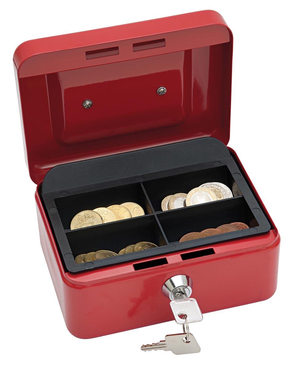 Wedo geldkoffer, ft 12,5 x 11,5 x 8 cm, rood-2