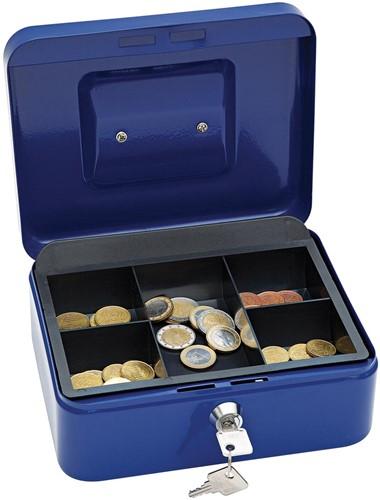 Wedo geldkoffer, ft 20 x 16 x 9 cm, blauw-2