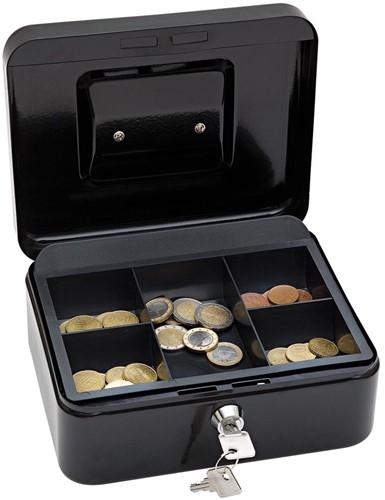 Wedo geldkoffer, ft 20 x 16 x 9 cm, zwart