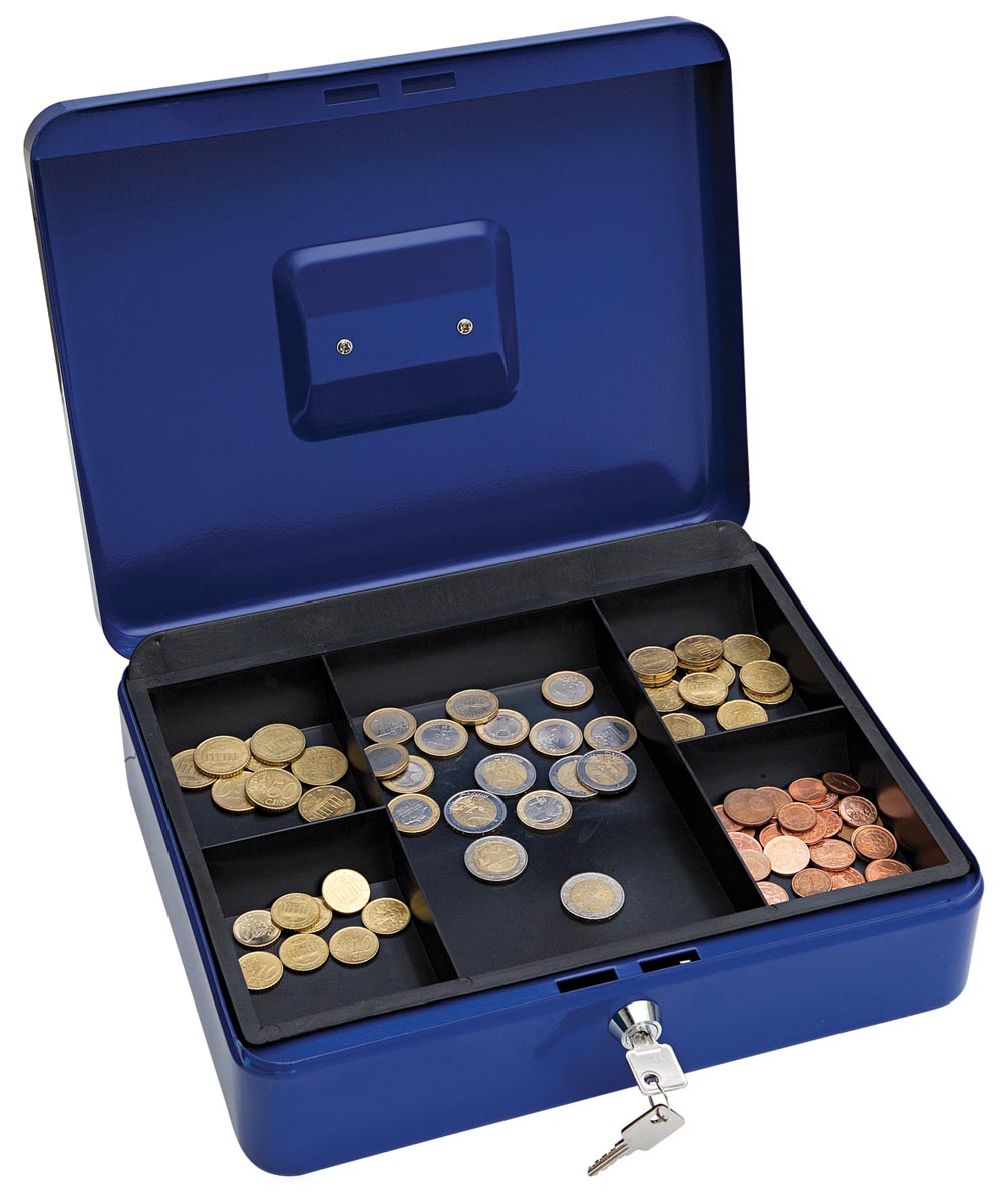 Wedo geldkoffer, ft 30 x 24 x 9 cm, blauw-2