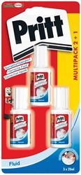 Pritt correctievloeistof Correct-it Fluid, blister 2 + 1 GRATIS