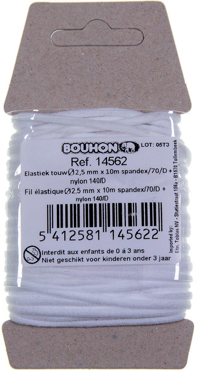 Bouhon elastiek touw, nylon, ft 2,5 mm x 10 m, op blister