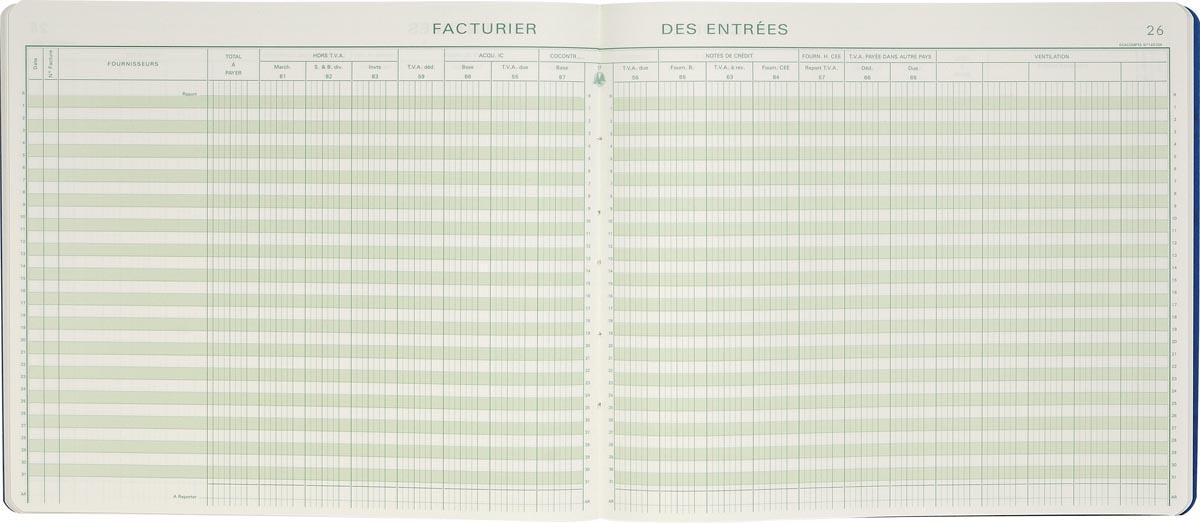 Exacompta formulieren inkoop met BTW, ft 27 x 32 cm, Franstalig