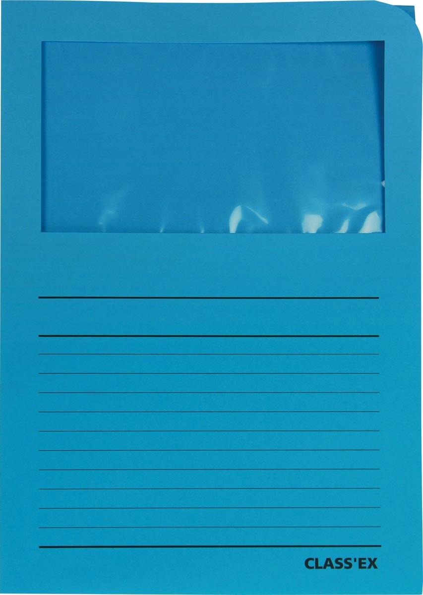 Class'ex L-map met venster intens blauw