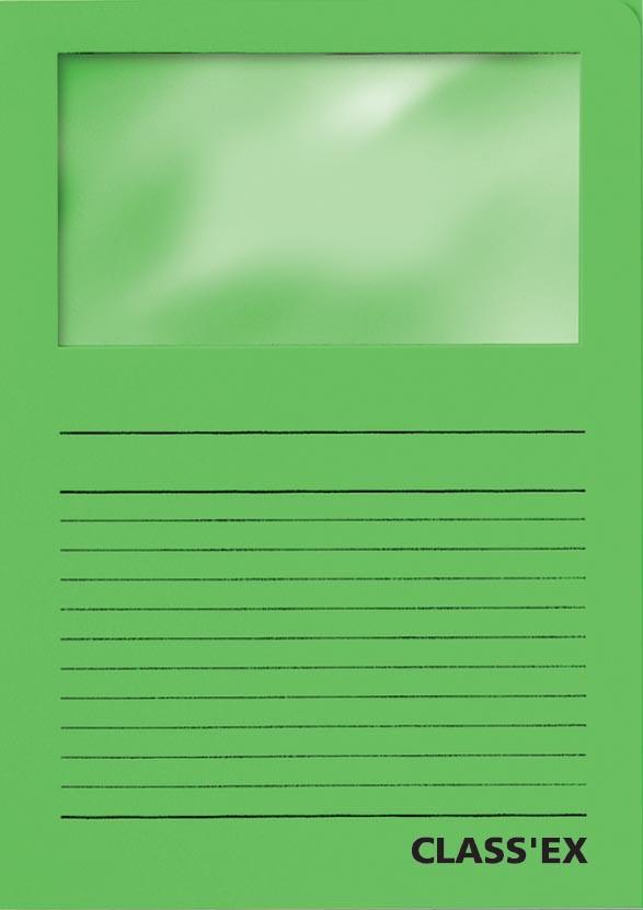 Class'ex L-map met venster intens groen
