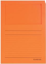 Class'ex L-map met venster intens oranje
