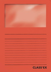 Class'ex L-map met venster intens rood