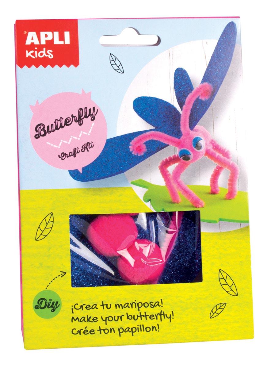 Apli Kids craft kit op blister, vlinder