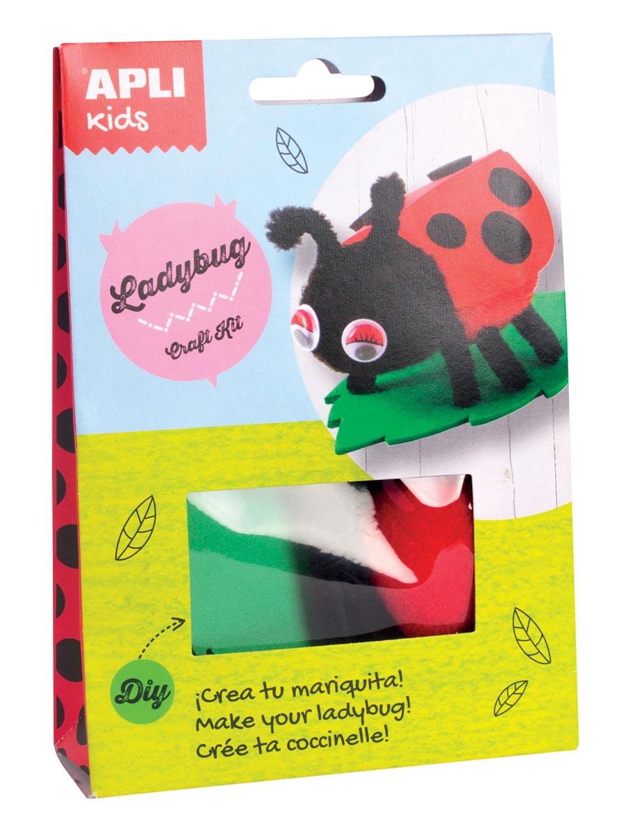 Apli Kids craft kit op blister, lieverheersbeestje