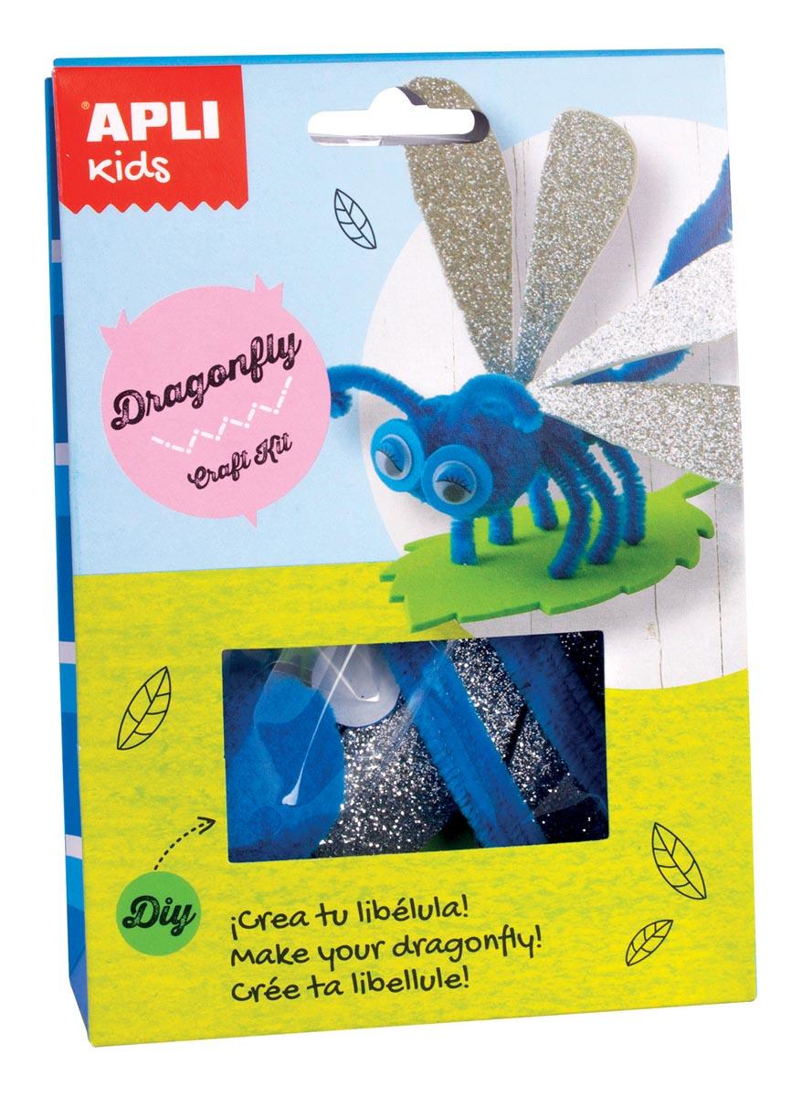 Apli Kids craft kit op blister, libel