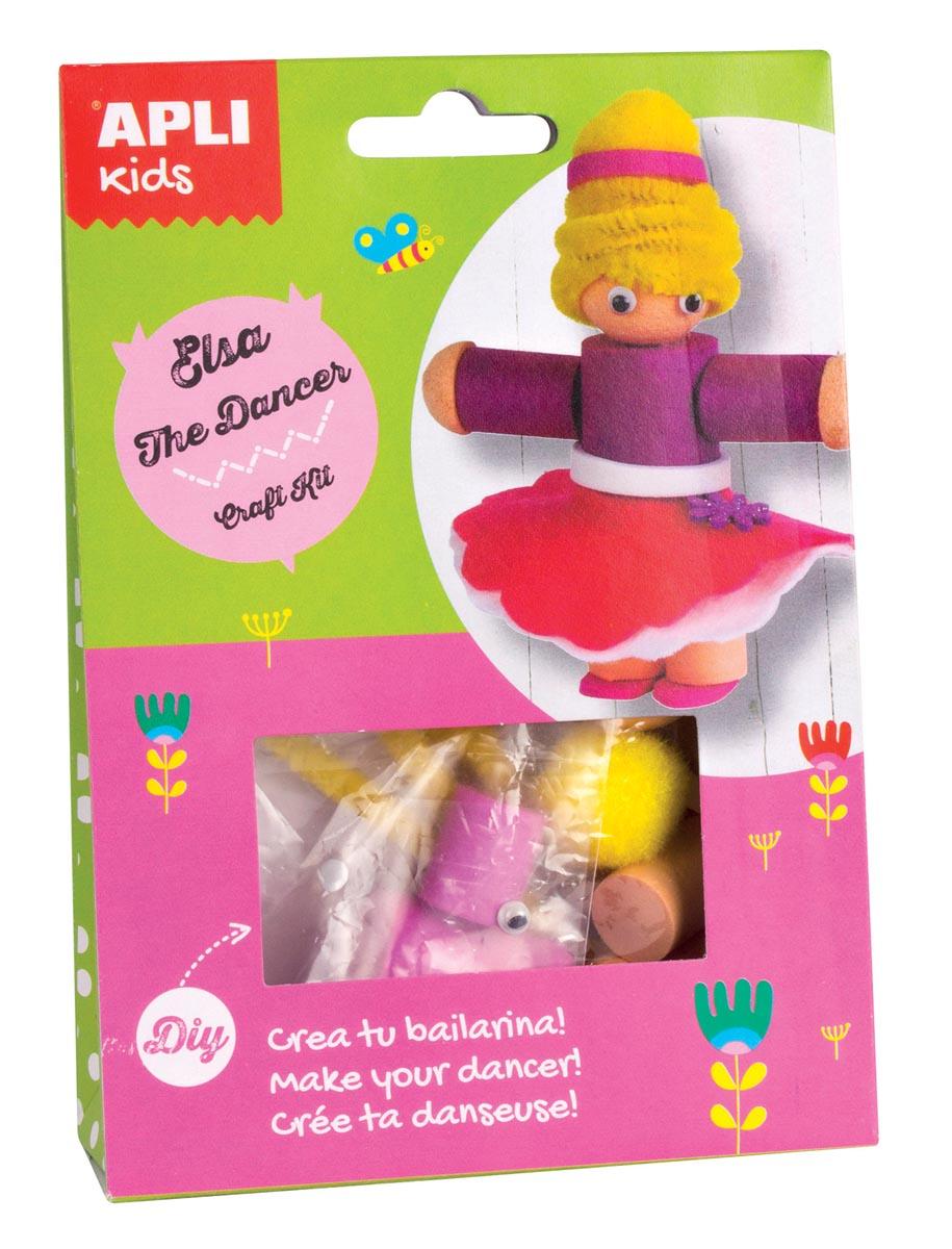Apli Kids craft kit op blister, danseres Elsa