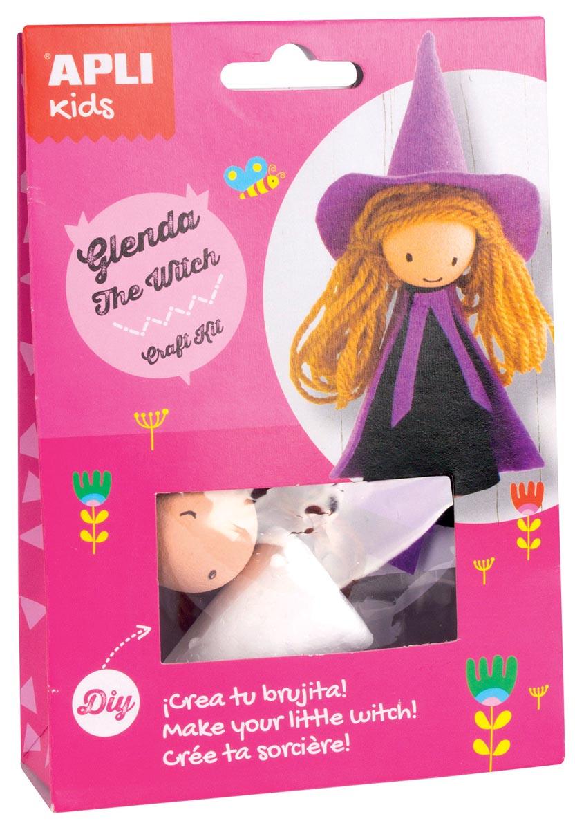 Apli Kids craft kit, op blister, Glenda de heks