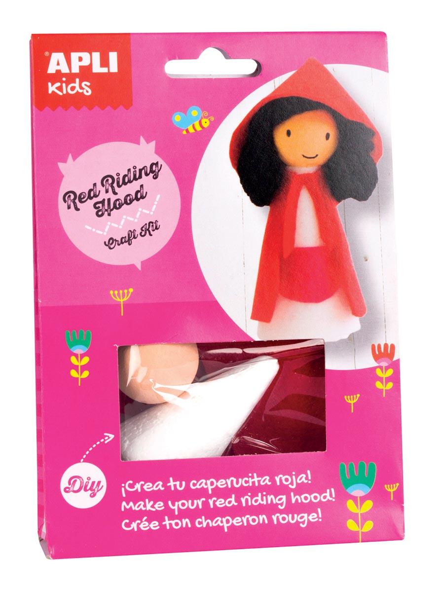 Apli Kids craft kit op blister, roodkapje